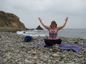 YOGA on the rocks in Palos Verdes
