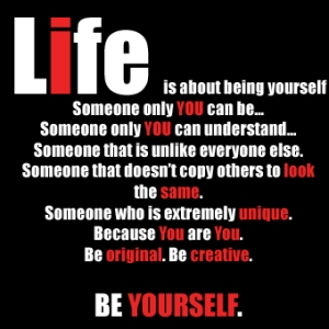 Life is about creating yourself and your vision for 2013